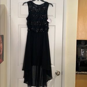 Bisou Bisou black sequence top dress size 4 NWT